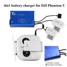 4 in 1 Parallel Power Hub Intelligente Batterie Controller Ladegerät für DJI Phantom 3 Standard Professionellen Erweiterte SE FPV Drone