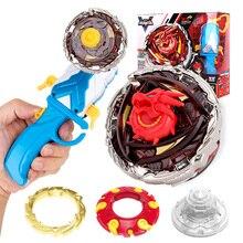 Высококлассная Гироскопическая игрушка металлический сплав 4D Созвездие битва спиннинг топ с одной кнопкой 180 градусов флип-пусковая установка для детей подарок
