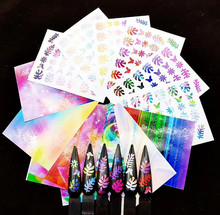 Get more info on the 6pc/set Holographic Leaf Nail Stickers DIY Thin Laser Silver Stripe Leaves Nail Art Foil Transfer Sticker Decal Decorations Set