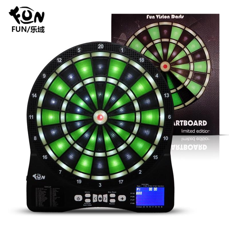 FUN Automatic Scoring Luminous Electronic Dart Set Secure Soft Electronic Dart Board Adult Children Dart Board Multiplayer