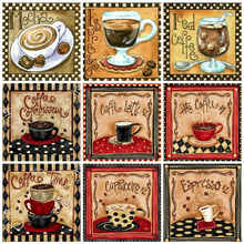 Huacan Diamond Painting Kit Cartoon 5D DIY Diamond Embroidery Sale Coffee Full Mosaic Handmade Gift cheap Paintings CN (Herkunft) Other Einzeln RESIN Voll aufgerollt 30-45 Quadrat Amerikanische Art Nein Unfinished Need you Handmade