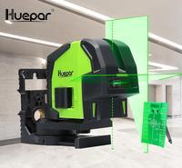 Huepar Cross Line Laser Level with 2 Plumb Dots Professional Green Self Leveling