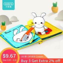 Beiens 3D Animais Livros de Pano Do Bebê Macio & Veículo Montessori Brinquedo Educacional Brinquedos Para Crianças Desenvolvimento da Inteligência Do Bebê Presentes