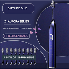 Electric-Toothbrush Sonic Teeth Whitening Rechargeable Waterproof USB 10-Mode VIP