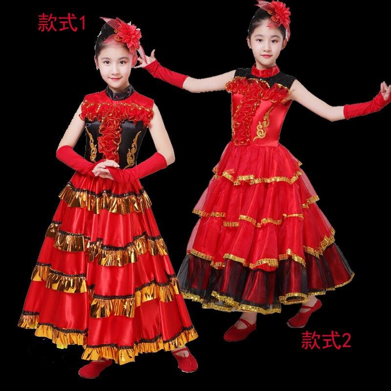 Falda de Flamenco para niños de 100-160 cm, falda española de bailarina de Flamenco, disfraz elegante, traje para niñas, falda de apertura puesta en escena DL4211 [Versión Garantía Española Oficial] Xiaomi mi TV Android Smart TV 4S 55 pulgadas 4K HDR TV de pantalla 2GB + 8GB Dolby DVB-T2