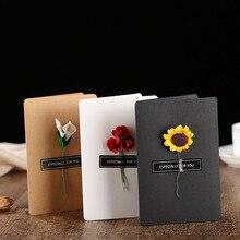 DIY праздничные вечерние открытки приглашения открытка с изображениями цветов ручной работы поздравительная открытка 520 сообщение день Святого Валентина День рождения открытки