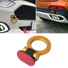 DecorativeCar Trailer Hook Racing Ring/Triangle Style Auto Front Rear Bumper Towing Hook Auto Accessories 110x65mm