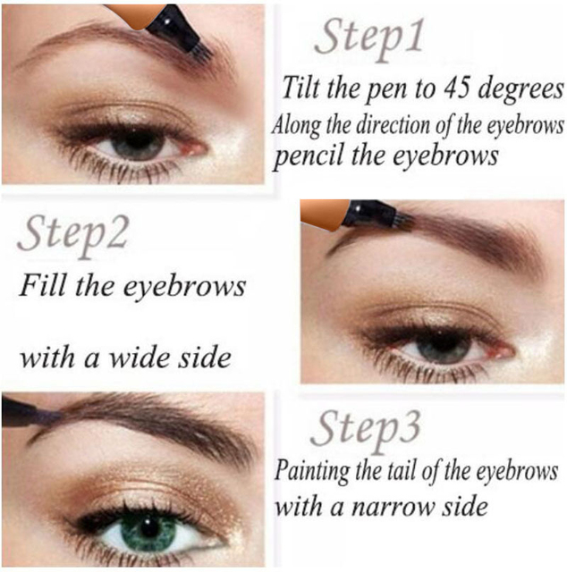 Waterproof Microblading Liquid Eyebrow Pen Fork Tip Eyebrow Tattoo Pencil Long Lasting Fine Sketch Eye Brow Pencil TSLM1 2