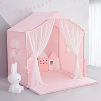 Kids Tent House Large Size Children Toy Tent Indoor Play House Little Princess Girls Boys Bed with Fence Baby Gifts