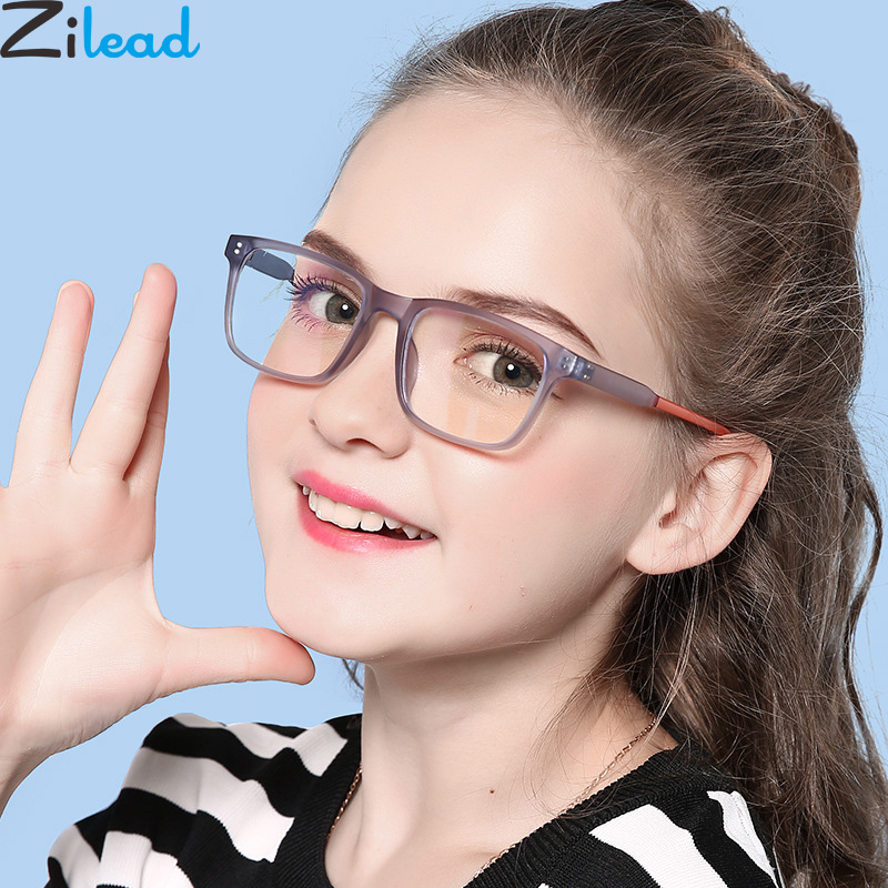 Zilead TR90 Anti Blue Light Glasses Frame Boys&Girls Computer Game Optical Spectacle Goggles Eyeglasses For Kids
