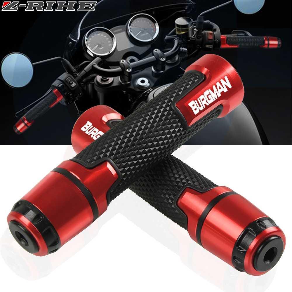 "Motorcycle Universal 7//8/"" Handlebar Grips Hand Grips For Suzuki Burgman 400 650"