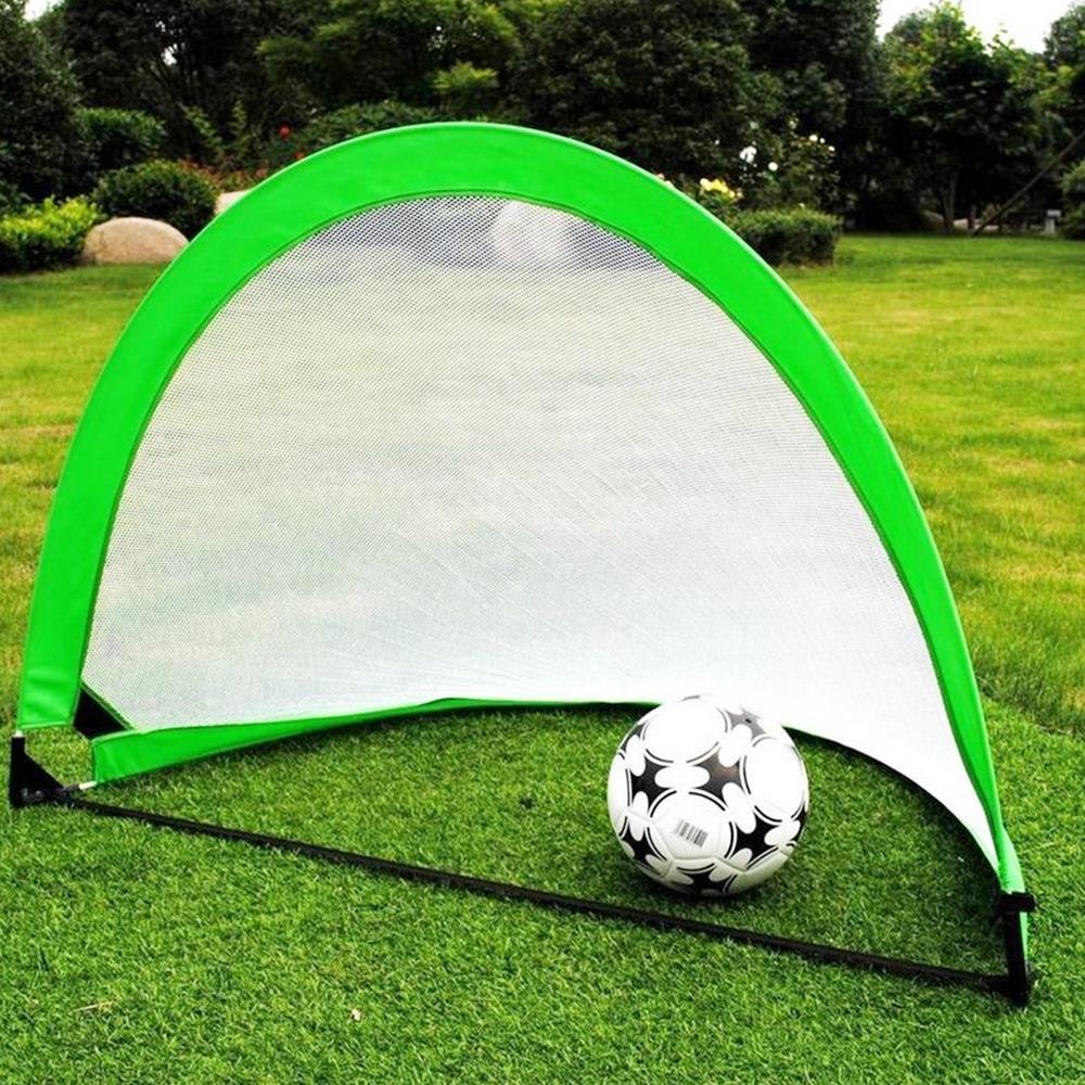 4color Goal Outdoor Game Portable Soccer Ball Net Goalkeeper Cloth Durable Football Gate Football Net Practical