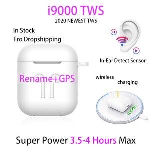 2020 NEWEST i9000 TWS In ear Blutooth Earphone Mini Wireless Sport Headset Headphone Stereo Earbuds Elari Rename and GPS Air 2(China)