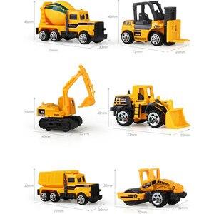 Image 5 - 1:64 vehículos de ingeniería multitipo de imitación de inercia, tamaño mediano, excavador para niños, modelo de coche, juguetes para niño