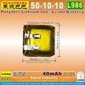 10 шт. [L986] 3,7 в 40 мАч [501010] полимерная литий-ионная аккумуляторная батарея для наушников TWS Bluetooth