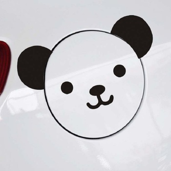 Cartoon Panda Cool Face Vinyl Car Stickers Fashion Reflective Car Styling Decal image
