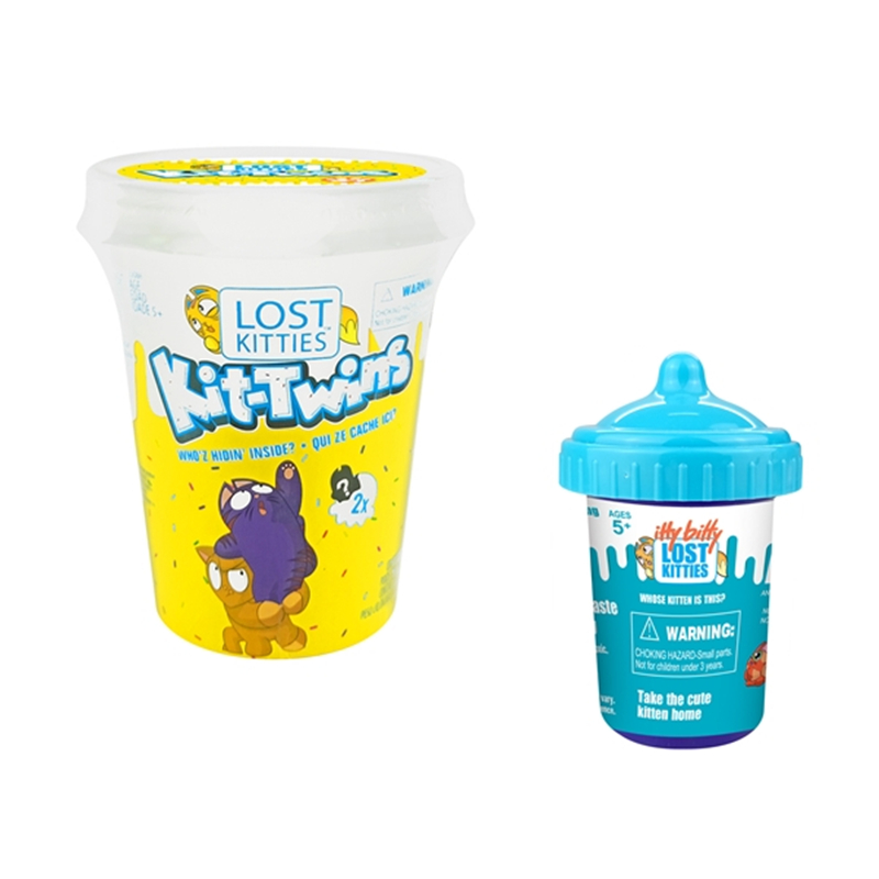 Buy One Get One Free Lost Kitties Surprise Cup Squishy Colored Clay With Many Cute Styling Kittens Give A Small Bottle For Free