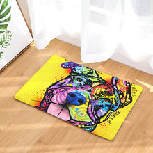 Colorful dog floor mats creative color oil painting print carpets