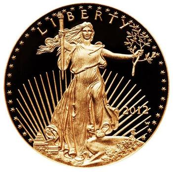 2012 eagle .999 gold 1 ounce coin graded with PF70
