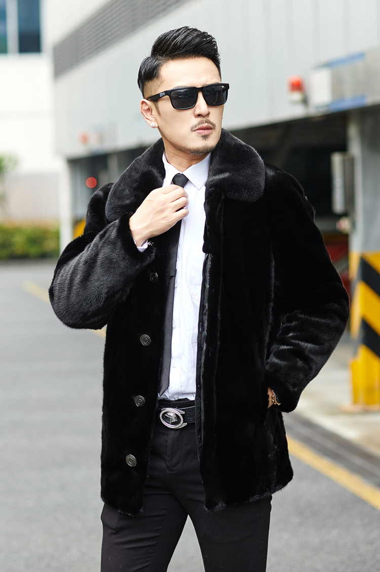 Real Fur Coat Men Winter Jacket Warm Natural Mink Fur Coat Mens Mink Jackets Coats 2020 Outerwear Parka 8858 KJ3092