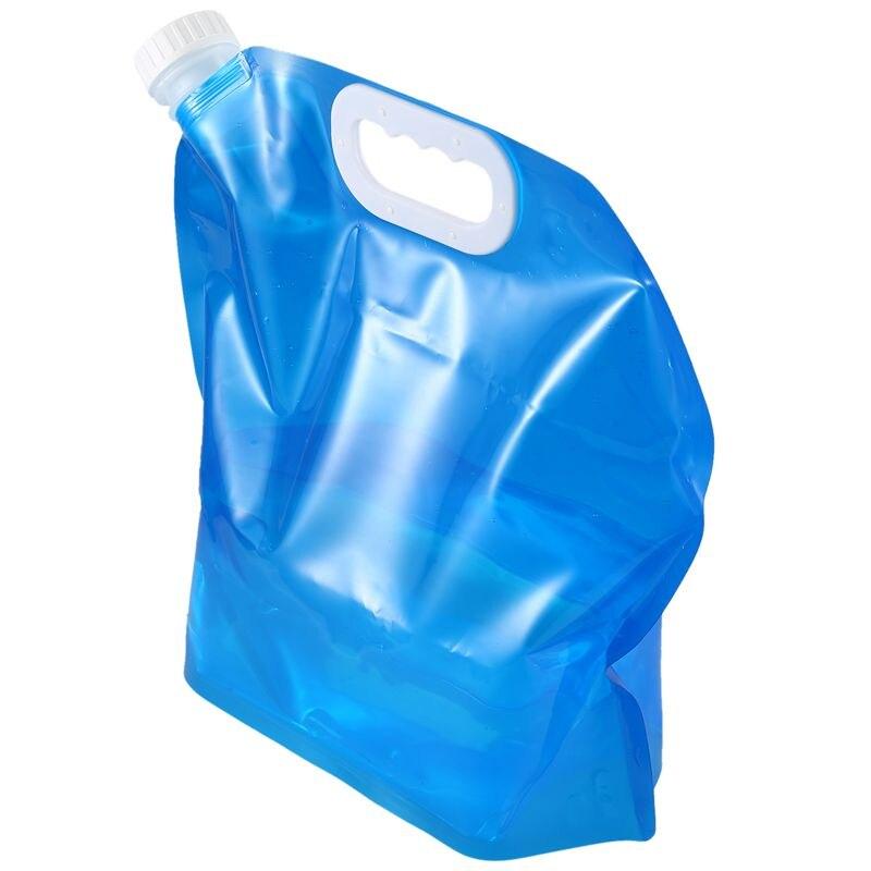 علبة مياه قابلة للطي سعة 5 لتر أزرق