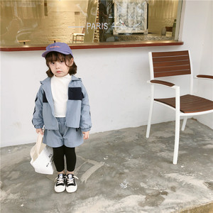 Image 4 - 2019 Autumn New Arrival clothing sets thickened hooded matching colors jacket with long pants fashion suit for girls and boys