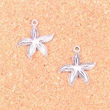 88 Uds encantos estrella de mar, ajuste antiguo para hacer colgantes, Plata tibetana Vintage, joyería DIY pulsera collar 25*23mm