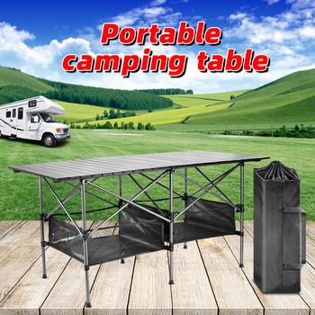 Piknik na świeżym powietrzu składany stół Camping Box stół odkryty składany stół Camping stół kuchenny turystyczny stół składany stół do jadalni Po tanie i dobre opinie NoEnName_Null CN (pochodzenie) Outdoor multifunctional folding table 50kg-80kg L140cmXW70cmxH70cm L25cmxW20cmxH70cm 7 22 kg