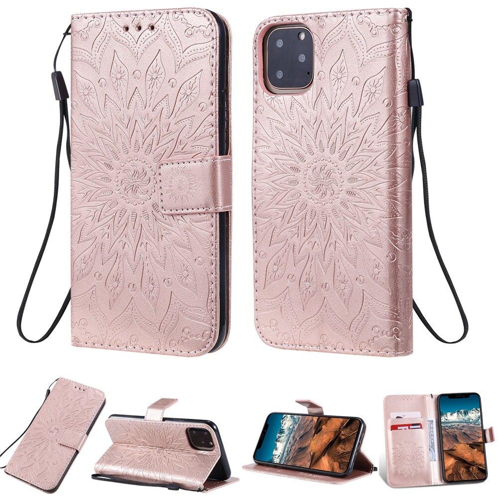 Luxury Flower Wallet Flip Case for iPhone 11/11 Pro/11 Pro Max 12