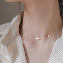 2020 Trend Lucky Pendant Necklace For Women Simple Female Necklace Gold Silver Color Chain Choker Jewelry Christmas Gift D5T663 korean real 24k gold necklace pendant for women gold jewelry lucky fish pendant chain necklace choker anniversary birthday gifts