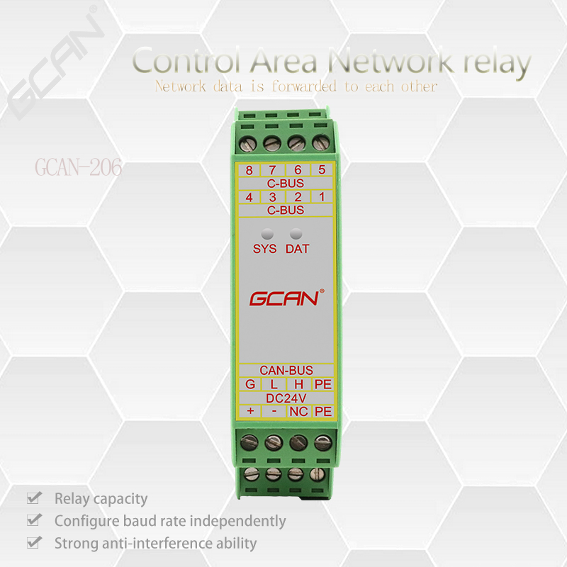 Купить с кэшбэком CAN bus repeater and multi-channel CAN hub are used to extend CAN communication distance. CANbus isolator  industrial grade.