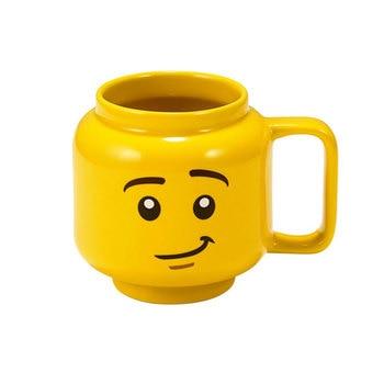 Lego mug-cups Creative yellow smile face Cartoon Cup Milk Coffee Ceramic Drinking Water Holder Fashion Gift