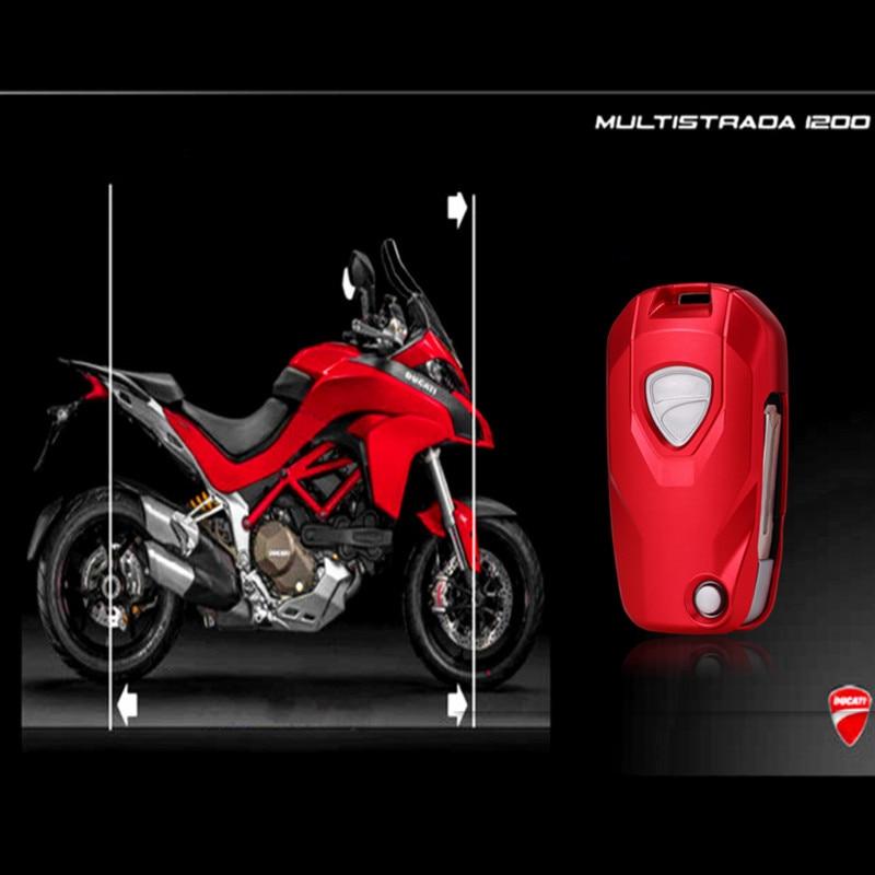 Boîtier De télécommande en alliage daluminium pour Ducati MTS1200 Xdiiavel 2016 de 2, sans clé