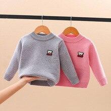 Baby Sweater Boy Pullover Knit Girl Teen Winter Children's Warm Autumn Velvet for Tops