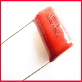 CBB metalized polypropylene film capacitor 630V 105J 1UF polyester capacitor foot pitch 20MM image