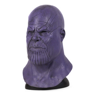 Image 2 - Halloween Mask Deluxe Thanos Mask Horror Mask Adult Latex Cosplay War Helmet Masks Party Scary Props Mascaras Halloween Mask