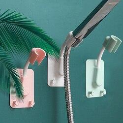 360° Shower Head Holder Adjustable Self-Adhesive Showerhead Bracket Wall Mount With 2 Hooks Stand SPA Bathroom Universal ABS 1pc