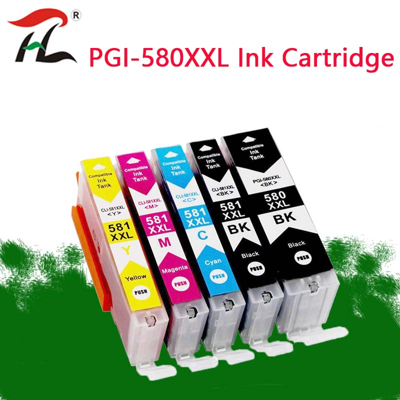 Compatible PGI-<font><b>580</b></font> PGI <font><b>580</b></font> CLI 581 XXL ink cartridge for <font><b>CANON</b></font> PIXMATS705/TR7550/TR8550/TS6150/TS6151/TS6250/6251/TS9550/TS9551C image