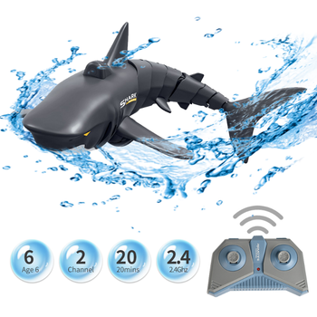 New Mini RC Shark Remote Control Toy Swim Toy Underwater RC Boat Electric Racing Boat Spoof Toy Pool 1