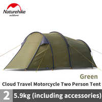 Naturehike Outdoor Travel Motorcycle Tent Large Space Family Self-driving Camping Tent Ultralight Waterproof Tents