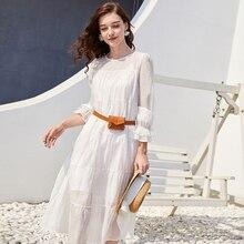 vestidos suelto de Blanco