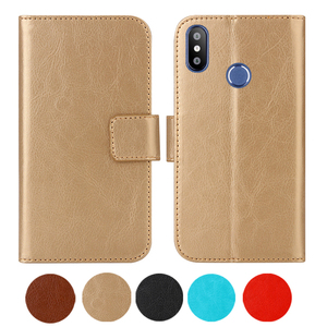 """Leather Case For Fly View Max 5.5"""" Flip Cover Wallet Coque Fly View Max 2018 Phone Cases Fundas Etui Bags Magnetic Fashion"""