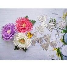 Matrices de découpe en métal chrysanthème fleur, modèle de pochoir pour bricolage, Scrapbooking, gaufrage de cartes en papier, fabrication d'album, matrices artisanales découpées