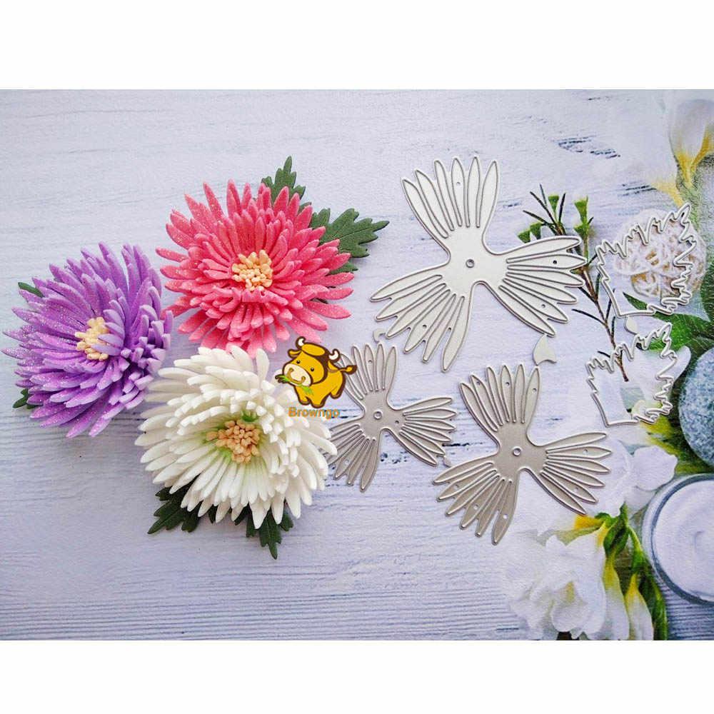 AM/_ FLOWER PETALS CUTTING DIE EMBOSSING STENCILS GREETING CARD ALBUM DIY CRAFT S
