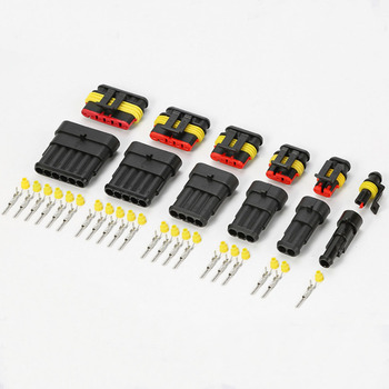 1P/2P/3P/4P/5P/6P Pin Way AMP Female Male Super Seal Waterproof Electrical Wire Connector Plug For Car Auto Pack of 10 image