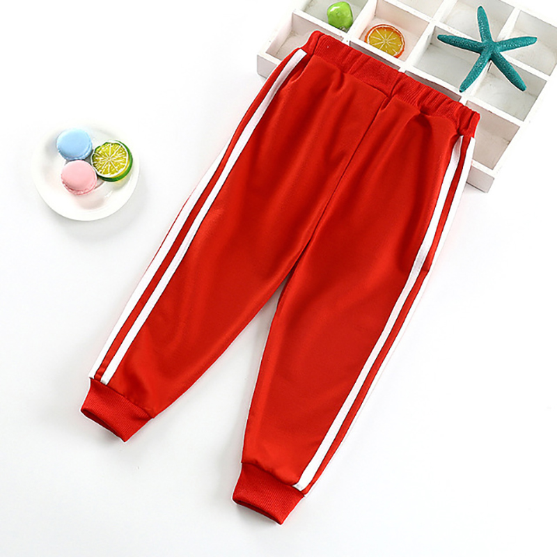 Children's Side Striped Solid Color Track Pants Children Clothing For Baby Boys Pants Kids Girls Autumn Outdoor Sweatpants