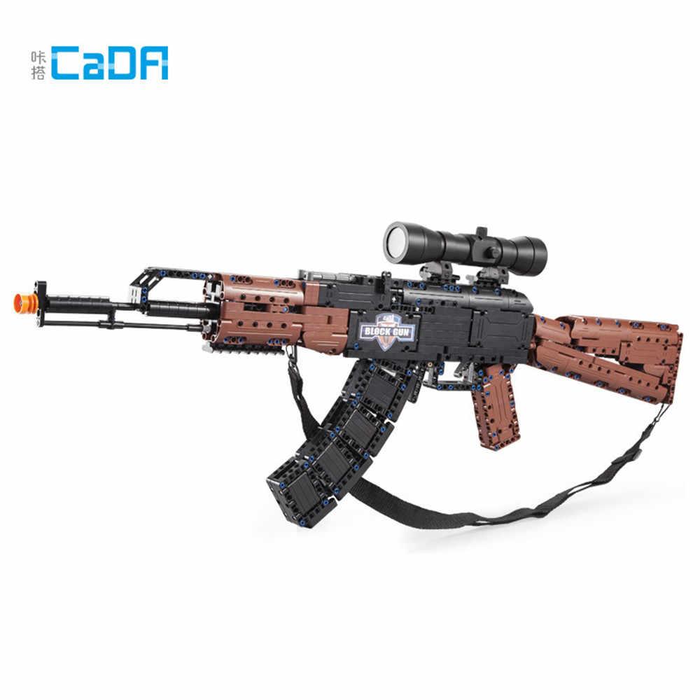 PUBG CS AK47 Vista della Pistola Compatibile lepinblocks Technic Blocchi di Costruzione Ha Lanciato Cf Pistola Mattoni Blocchi Amici Giocattoli di Montaggio