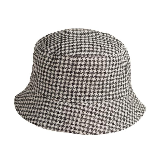 Bucket Hats Women Plaid...