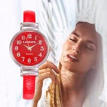 Luxury Ladies Brand Bracelet Watches Women Fashion Red Leather Quartz Clock Wristwatch Jewelry Accessories часы женские
