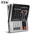 EYK EA40 4 канала микшерная консоль с выключателем звука и PFL Bluetooth запись 3 диапазона 16 DSP эффект USB Профессиональный звуковой микшер DJ